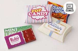 お菓子のパッケージデザイン
