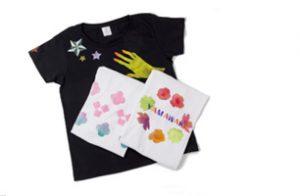 ステンシルと手描きのTシャツ