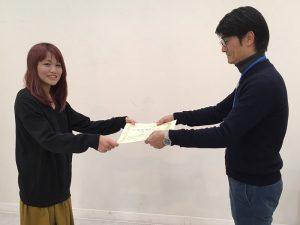 ジュエリーデザイン科2年生の、倉田香凜さん
