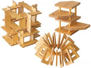 授業名:立体造形/2年次 課題名:ユニットによる構成